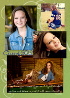 5x7 Senior Announcement Card **Back**